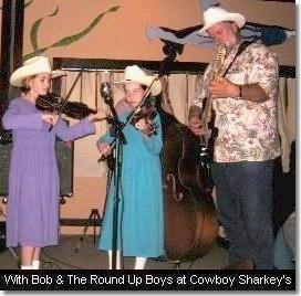 With Bob & The Round Up Boys at Cowboy Sharkey's. (c) The Pendleton Family Fiddlers